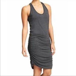 Athleta Tee Racerback Ruched Dress Grey  Size L